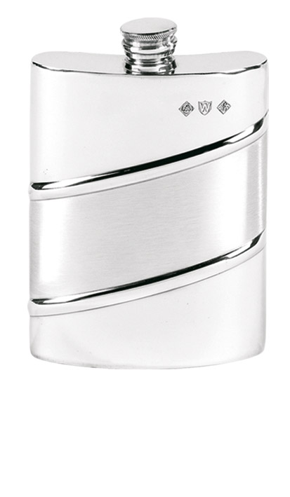 6oz Pewter hipflask