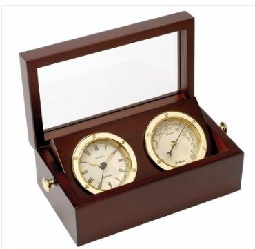 Brass clocks and Barometers
