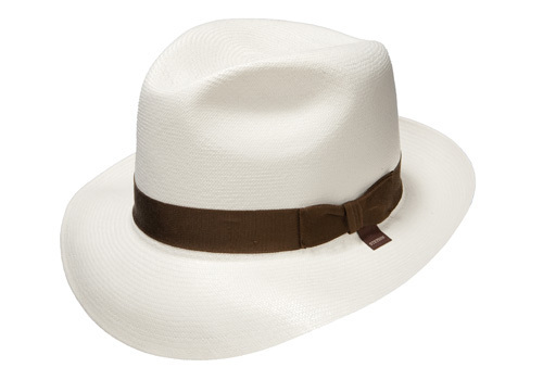Panama hats with a variety of brim sizes