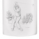 6oz hipflask with golf theme
